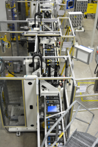 Overhead View of an Assembly System